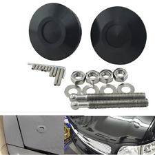 Universal 2pcs Black Racing Lock Plus Flush Hood Latch Pin Kit JDM Style Quick