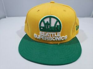 Seattle Supersonics NBA New Era 9FIFTY Snapback Cap Hat Hardwood Classics