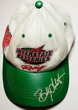 NASCAR INTERSTATE BATTERIES RACING #18 BOBBY LABONTE CAR CAP HAT LEATHER RARE