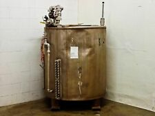 Stainless Steel 350 Gallon Tank With Standard 55 Gallon Drum Lid As Is