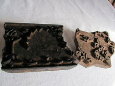 Primitive Antique Carved Wood Block Stamp Stencils, Wall, Fabric, etc...