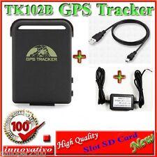 TRACKER GPS LOCALIZZATORE TK102-B TK 102-2 TK102 PRO slot SD CAVO  BATTERIA AUTO