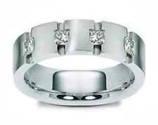 0.65 ct Men's Princess Cut Diamond Wedding Band Ring Channel Setting In Platinum