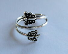 Argent Sterling (925) Réglable Papillons Toe Ring Tout Neuf