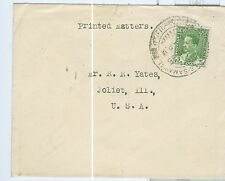Nice Cover Iraq #63 solo As Samawah Cancel Apr 21 1935 Baghdad back stamp to US