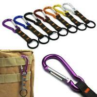 Outdoor Aluminum Buckle Climb Umbrella Rope Braided Keychain Clip Carabiner R4S0