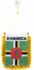 "Dominica Mini Flag 4""x6"" Window Banner w/ suction cup"