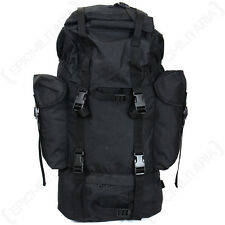 German Army Black 65L Rucksack - Military Backpack Bag Cadets Hiking D of E Kit