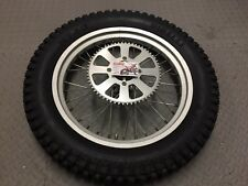 2002 GAS GAS TXT ROOKIE REAR WHEEL WITH SPROCKET,SPACERS, TYRE & DISC