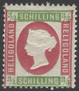 Heligoland 1869-73 3/4sch green & rose MH SG 7 £50