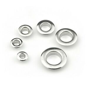 Flat Flange Grommets Eyelets with Washers fit Leather Craft 4/5/6/8/10/12mm Hole