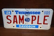 1989 TENNESSEE  License Plate   ** SAMPLE ** Davidson County