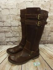 Womens UGG Australia Brown Leather Knee High Boots Size UK 5.5 - Model 1001999