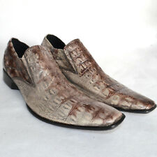 Banana Blues Mens 11 Cowboy Loafer WESTERN Shoes Croc Embossed Leather Booties