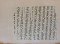 M17b ephemera 1920s short story the Pigeons christmas day