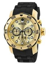 Invicta 18040 Men's Round Chronograph Date Analog Black Silicone Watch