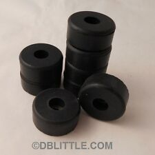 "8 Hard Black 1.5"" x 0.63"" Rubber Feet for Guitar Amps, Combos, Speaker Cabinets"