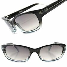 Classic Stylish Dapper Black & Blue Two Tone Frame Mens Rectangle Sunglasses