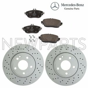 For Mercedes W117 CLA45 AMG Set of 2 Front Brake Disc & Pad Set Genuine KIT