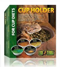 EXO TERRA REPTILE TORTOISE CUP DIET CORNER FOOD HOLDER VIVARIUM ACCESSORY PT2835