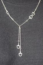 Solid Sterling Silver 52cm Snaffle Bit Horse Lovers Chain Links Equestrian Gift