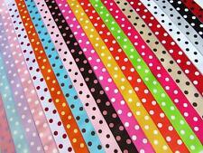 "5 yards Dippy Polka Dots Grosgrain 7/8"" Ribbon/Craft/Ladybug/bow RED/Black R43-E"
