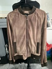 DOLCE & GABBANA D&G Goat Leather Perforated Bomber Jacket Nude Beige  IT52 M-L
