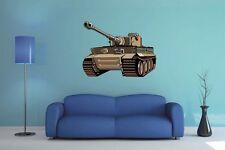 Wandtattoo Tiger Panzer 70 x 50 cm Wandsticker Aufkleber