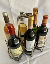 Superb Moderne Chrome 6-Bottle French Wine Caddy Carrier Marche aux Puces