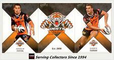 2011 Select NRL Strike Trading Cards Base Team Set Tigers (12)