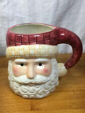 Tis The Season Large Ceramic Santa Claus Christmas Holiday Mug