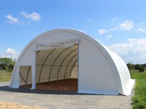 Rundbogenhalle Rundbogenzelt Lagerhalle Zelt 9,15m x 12m x 4,5m Industriezelt