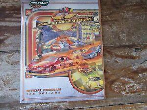 1998 Brickyard 400 program NASCAR at Indy Stock Car Race Gordon Martin Earnhardt