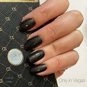 mani3LColorStreet ONLY IN VEGAS Dry Nail Polish Strips NEW Glitter RETIRED
