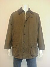 Barbour CLASSIC MOORLAND 100% Wax Cotton Jacket With Zip Out Gilet - Size: C42