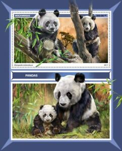 Mozambique Wild Animals Stamps 2017 MNH Pandas Giant Panda Bears 1v S/S