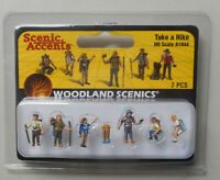 HO Scenic Accents Take A Hike Figures Woodland Scenics A1944