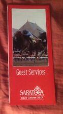 2017 Saratoga Race Course Guest Services Brochure