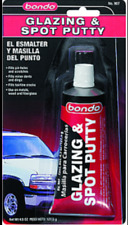 Lot of 6 Bondo 00907 4.5 oz. Glazing & Spot Putty (Red)