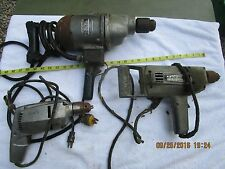 lot of 3 vintage industrial electric drills old power tools parts or restoration