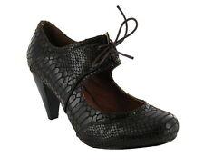 Nuevo Choc Marrón Serpiente Diseño atemporal patente Dolly zapatos estilo Mary Jane. tamaño 4