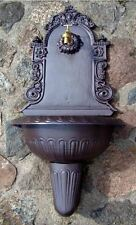 Wandbrunnen 83cm hoch 15kg Gusseisen Gartenbrunnen Ausgußbecken Schlauchanschluß