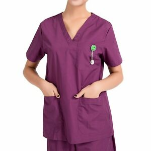 Women Men Hospital Nursing Clinic Scrub Set Uniform Unisex Tops & Pants