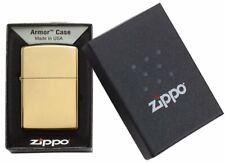 ZIPPO  HEAVY WALL ARMOR CASE MESSING  SCHLICHT  TOP