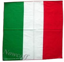 Cotton Bandana Italy Flag Italian Scarf Headband Biker Cycling Euro Soccer Cloth