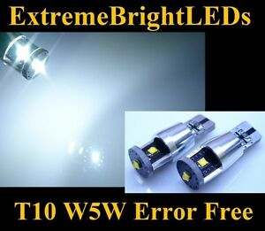 TWO HID WHITE 3x Cree XB-D 168 2825 W5W Canbus Error Free License plate lights