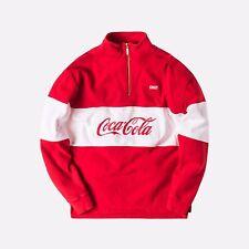 NWT KITH COCA COLA COKE 1/4 ZIP PULLOVER SWEATER RED SIZE SMALL S RARE NEW