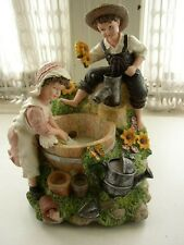 Heritage, Mint Ltd, Girl and Boy Decorative Water Fountain