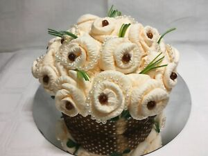Artificial Flower Table Centrepiece Decoration Paper Flowers Cream