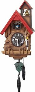 Rhythm Clock Wall Clock Analog Cuckoo Tyrolean R 4MJ732RH06